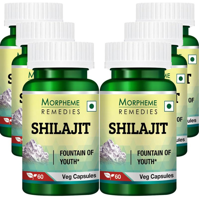 Morpheme Shilajit 500mg Extract - 60 Veg Caps (6 Bottles)