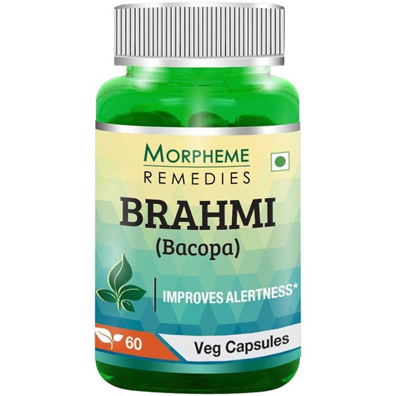 Morpheme Remedies Bacopa (Brahmi) Capsules For Mental Alertness - 500mg Extract
