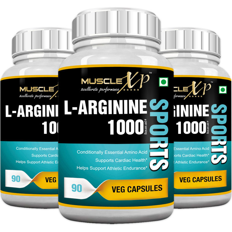 MuscleXP L-Arginine 1000mg Capsules (Pack Of 3)(90 Capsules each) 0cd5b47963a0