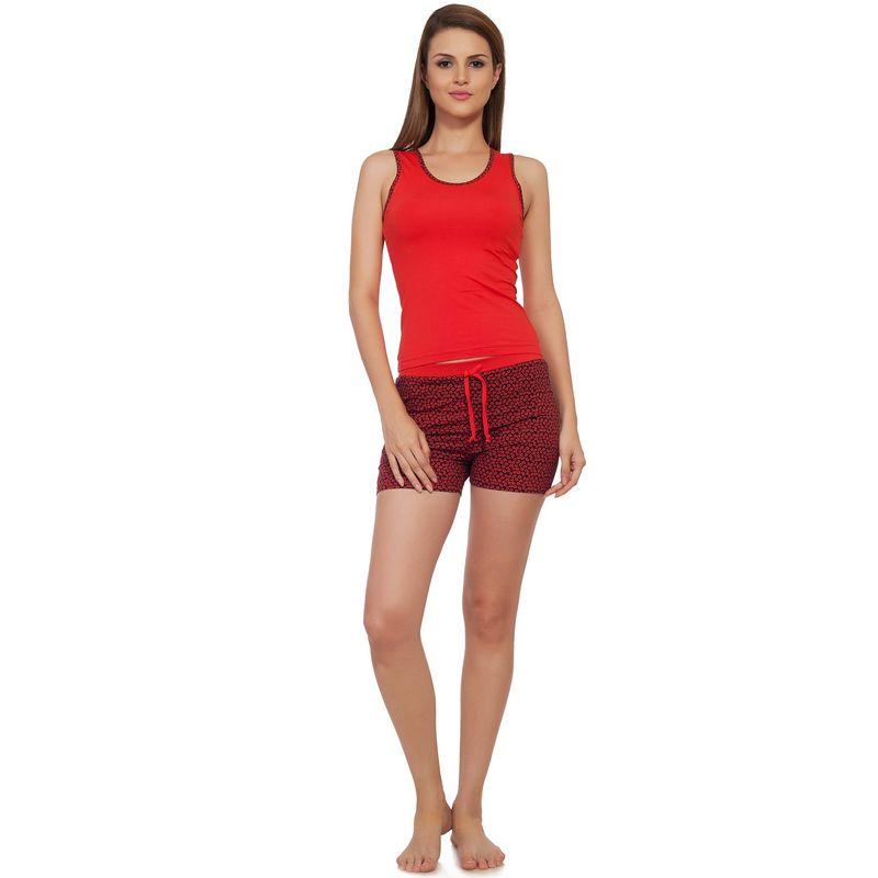 1ceca8df32 S.O.I.E Sleeveless Night Suit - Red (M) at Nykaa.com