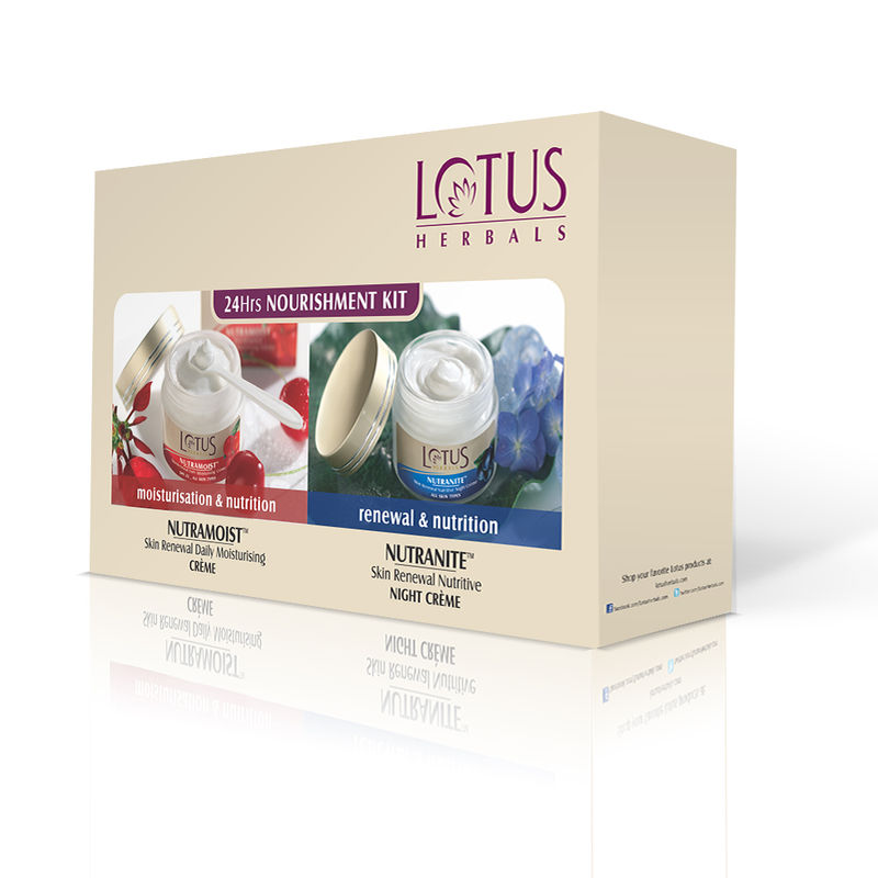Lotus Herbals 24 Hours Nourishment Kit (Special Offer) (Save Rs.215)