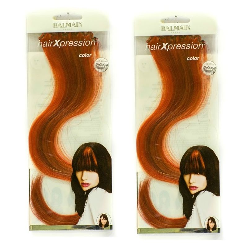 Balmain Paris Hxp 1 Pc Color 30Cm Hair Extension - Spicy Red(B1G1)