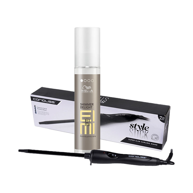 Wella Professionals Eimi Finishing Glossy Spray + Corioliss Style Stick Super Slim Curling Wand