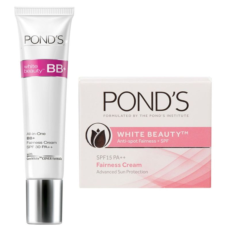 Ponds White Beauty Blemish Balm Fairness Cream + Ponds White Beauty Anti Spot-less Fairness Cream SPF 15 PA++