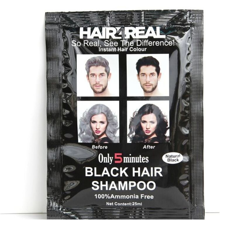 Hair4Real Natural Black Hair Shampoo(Pack Of 3 Sachet)