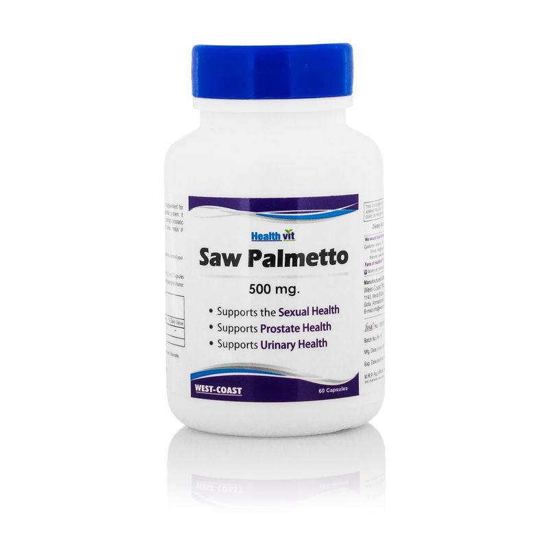 HealthVit Saw Palmetto Extract 500 Mg 60 Capsules