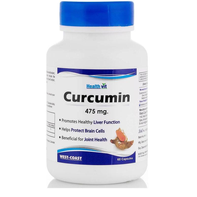 HealthVit Curcumin 475Mg 60 Capsules