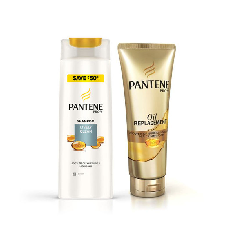 Pantene Pro-V Lively Clean Shampoo Save Rs.50 - Oil Replacement