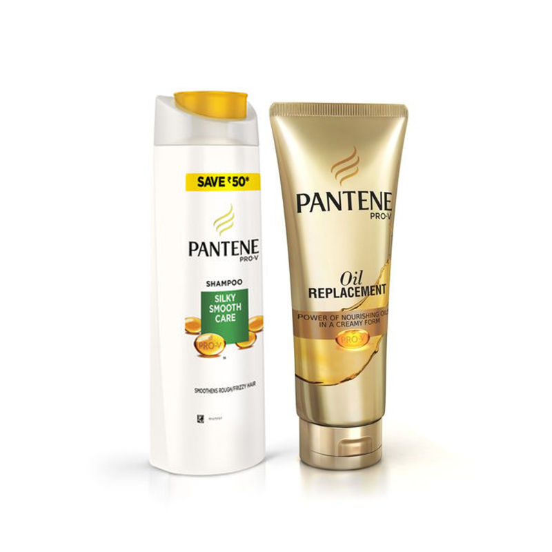 Pantene Pro-V Silky Smooth Care Shampoo Save Rs.50 - Oil Replacement