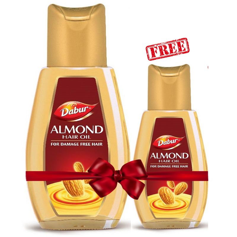 Dabur Almond Hair Oil + Free With Almond Hair Oil