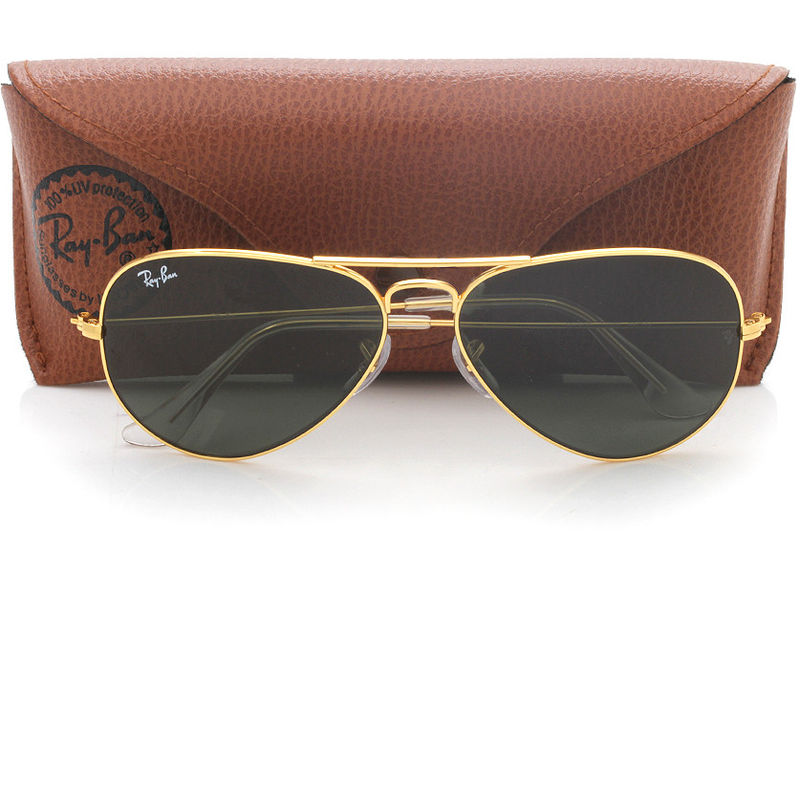 db2d7b342b Ray-Ban Green Aviator Sunglasses - RB3025 L0205 58-14 at Nykaa.com