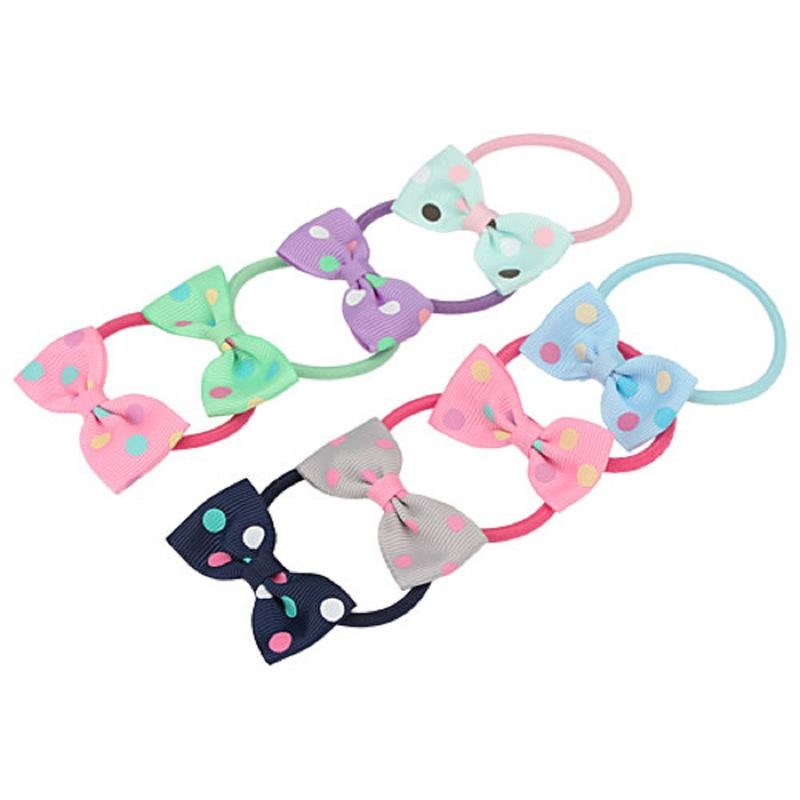 Missy Polka Dot Rubber Band Pack Of 8