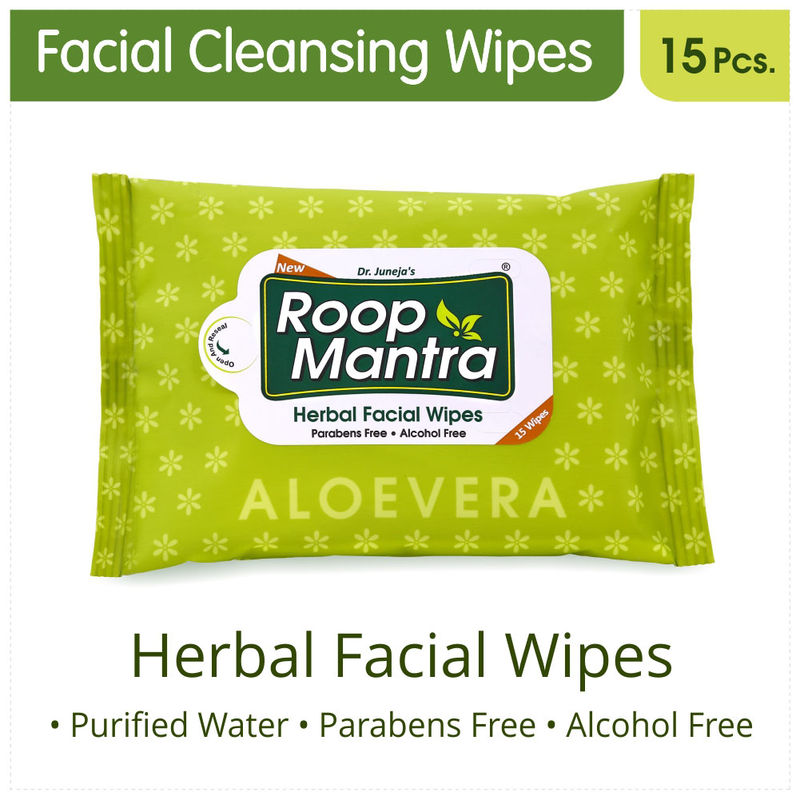 Roop Mantra Aloevera Facial Cleansing Wipes