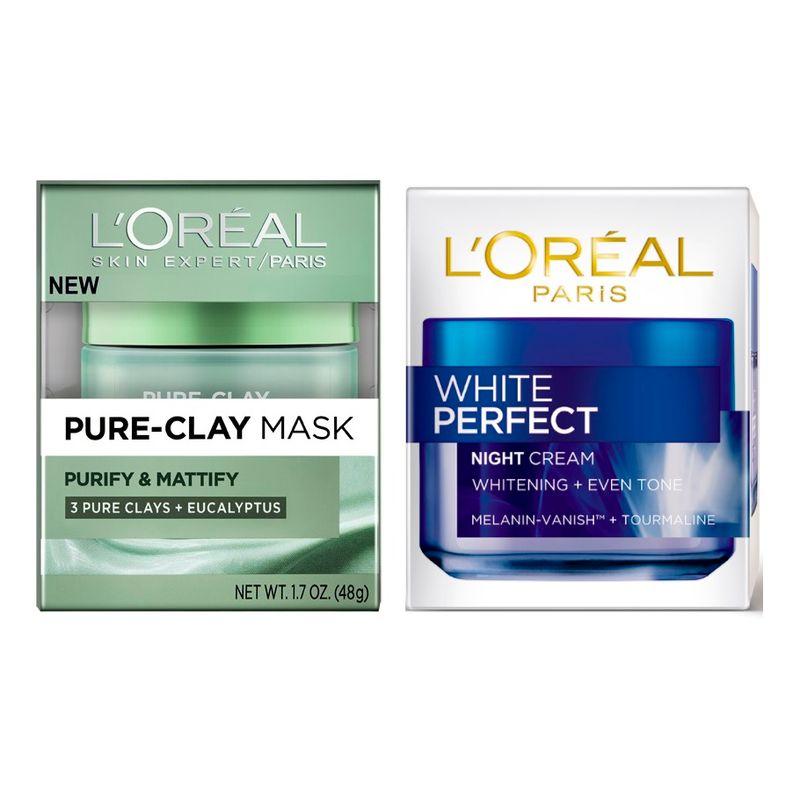 L'Oreal Paris Pure Clay Mask Purify & Mattify + White Perfect Night Cream