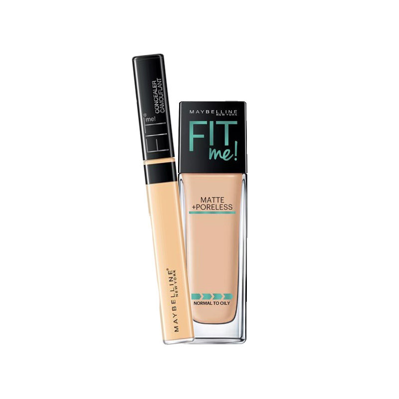 Maybelline New York Foundation - Buy Maybelline New York Fit Me Matte + Poreless Foundation - 128 Warm Nude + Fit Me Concealer - 25 Medium Online in India | ...