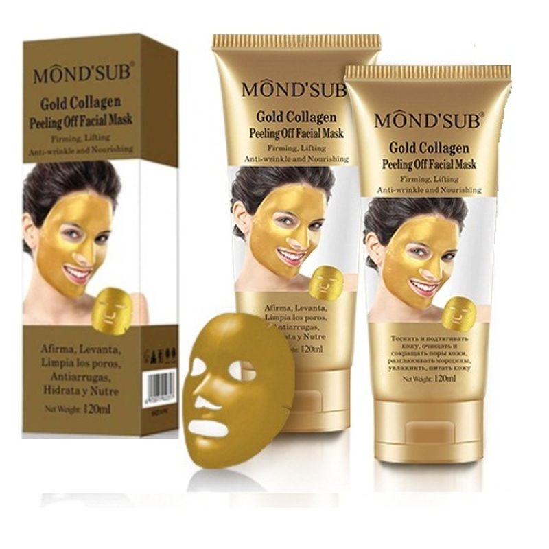 Mond'Sub Gold Collagen Peeling Off Facial Mask - Pack Of 2