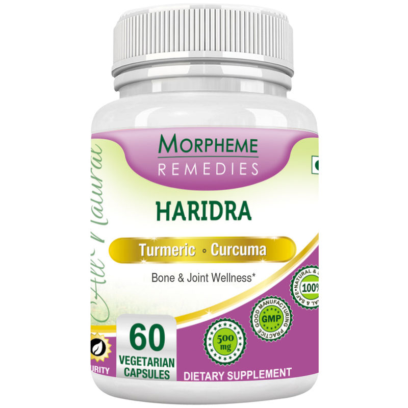 Morpheme Remedies Turmeric Curcumin (Haridra) - Antioxidant & Joint Support - 500mg Extract