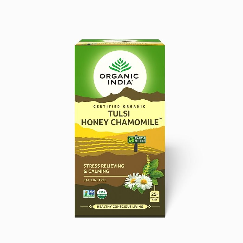 Organic India Tulsi Honey Chamomile Tea (25 Tea Bag)