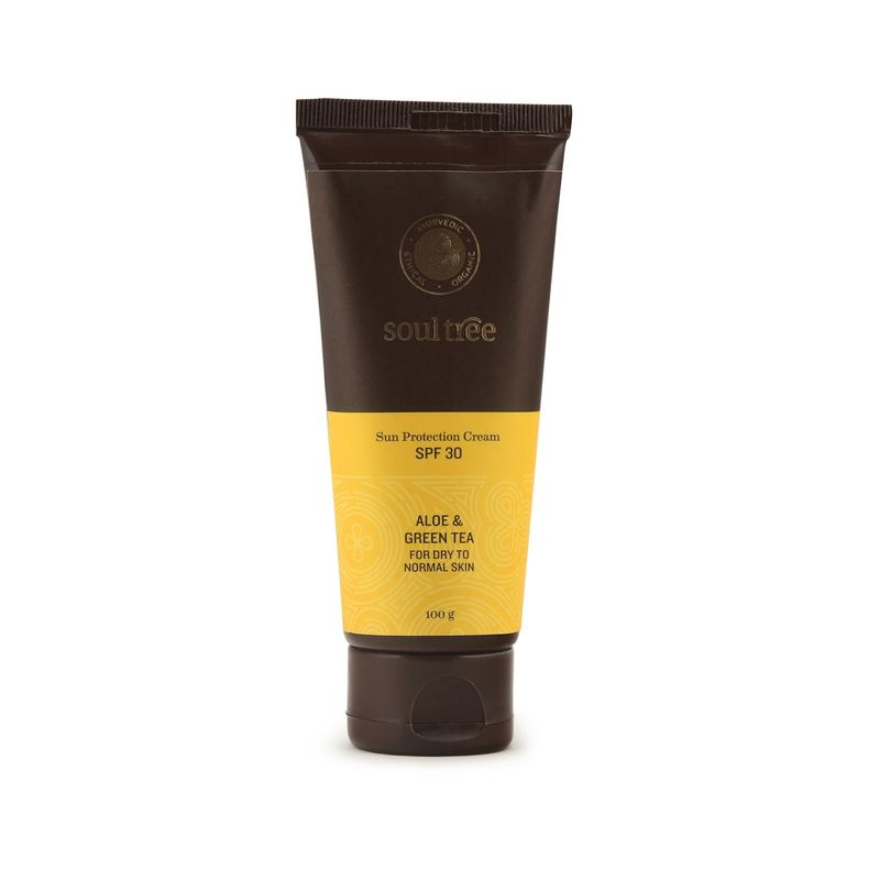 SoulTree Sun Protection Cream SPF 30, With Aloe & Green Tea