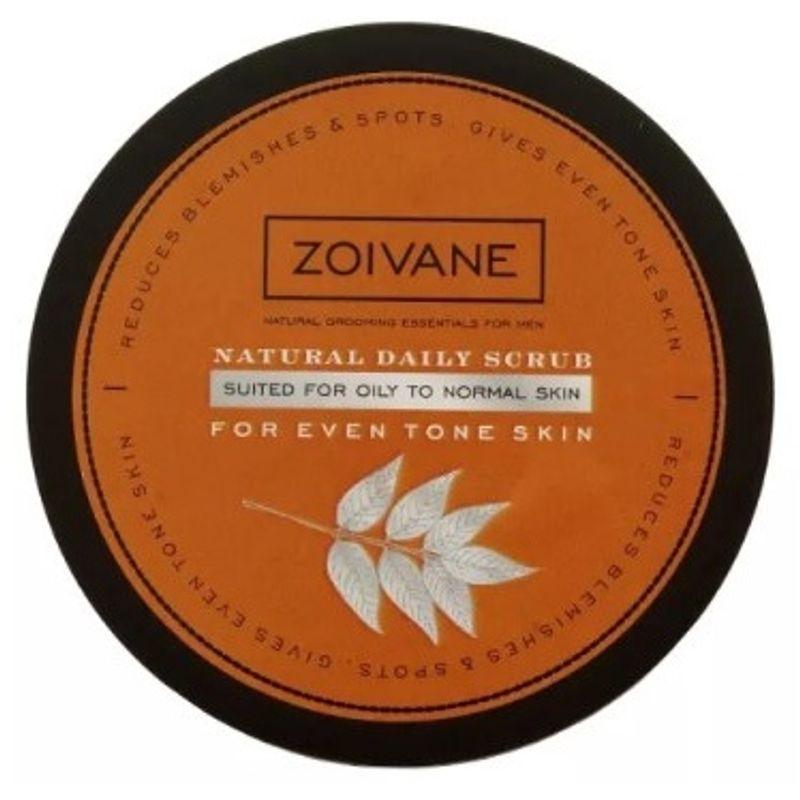 Zoivane Men Natural Daily Scrub For Even Tone Skin (Oily To Normal Skin)