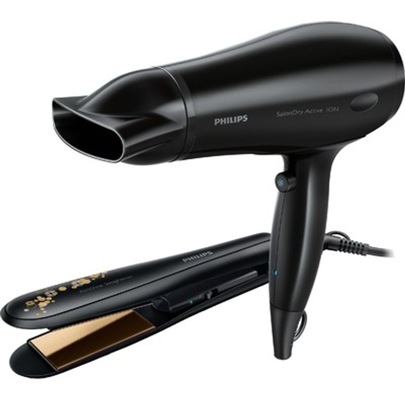 Philips HP 8643 Hair Straightener And Hair Dryer Combo