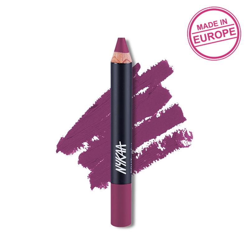 Nykaa Pout Perfect Lip & Cheek Velvet Matte Crayon Lipstick - Please Plum Me 01