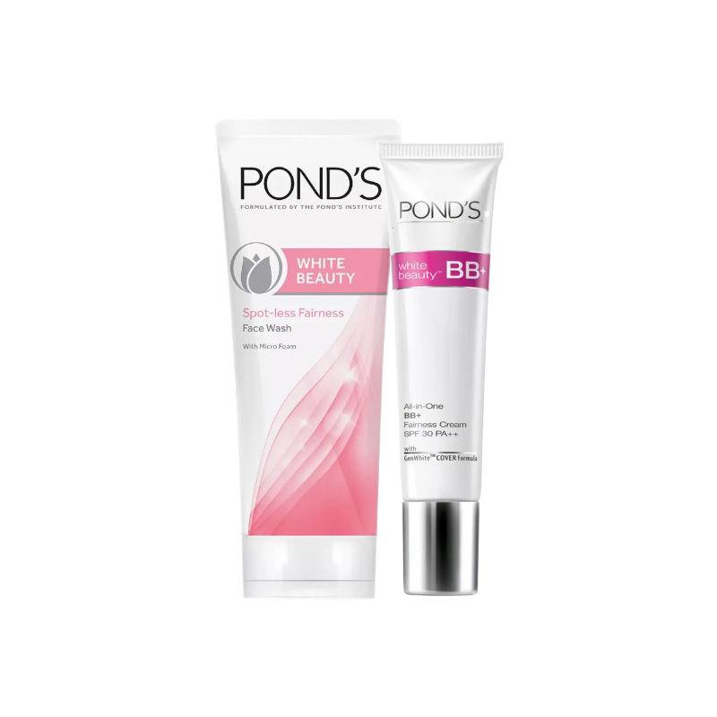 Buy Ponds White Beauty Blemish Balm Fairness Cream (18 Gm) & Get White Beauty Spot-less Fairness Face Wash Combo