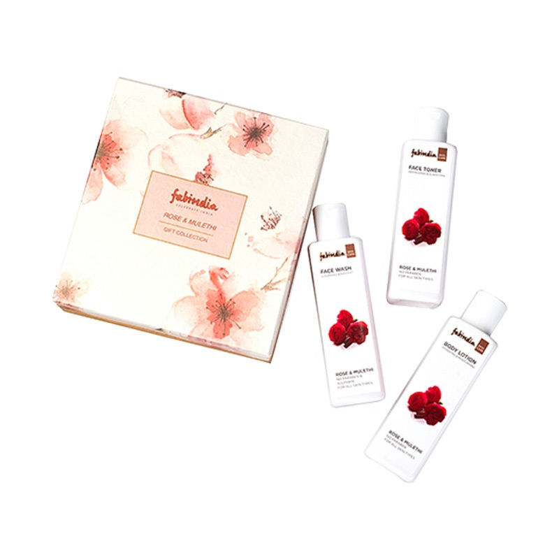 Fabindia Assorted Rose & Mulethi Gift Box - Set Of 3
