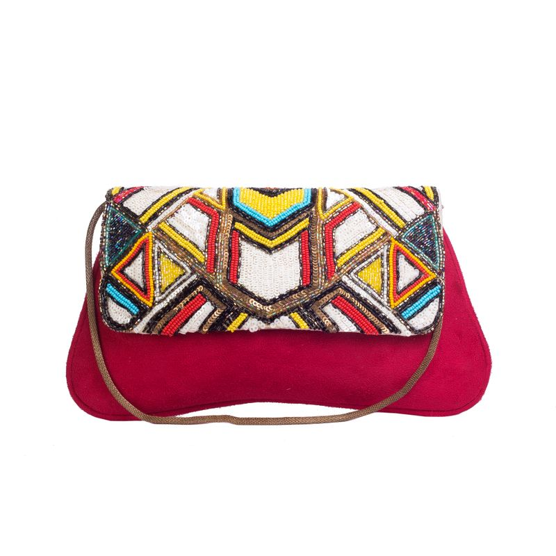 Rysha Red-Multi Embroidered Clutch at Nykaa.com 0a4a6489feceb