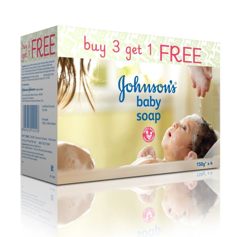 Johnson's Baby Soap Buy 3 Get 1 Free (Rs.80 Off)