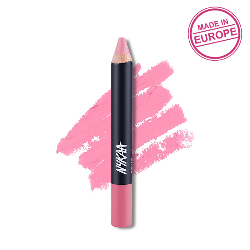 Nykaa Pout Perfect Lip & Cheek Velvet Matte Crayon Lipstick - Sweet As Honey 19