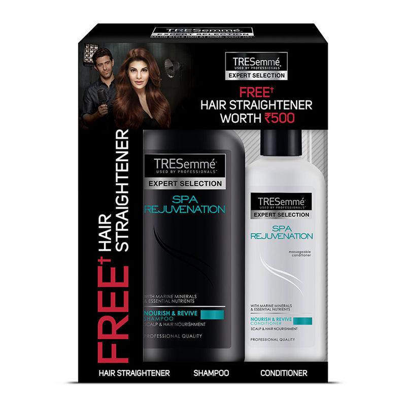 Buy Tresemme Spa Rejuvenation Shampoo 580 Ml With Conditioner 190 Ml & Get Hair Straightener Free Worth Rs. 500 Free