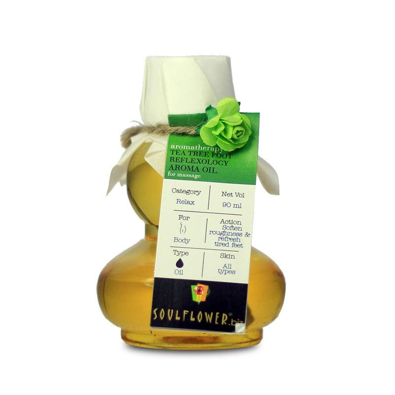 Soulflower Tea Tree Foot Reflexology Aroma Massage Oil