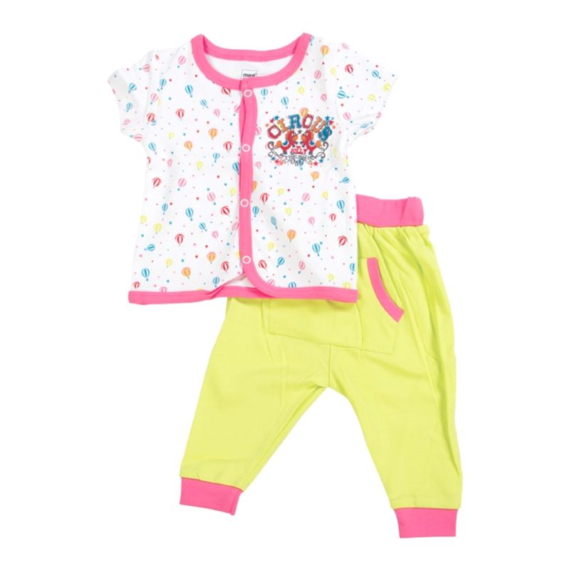 Mee Mee Baby Jabla & Track Pant - White & Green