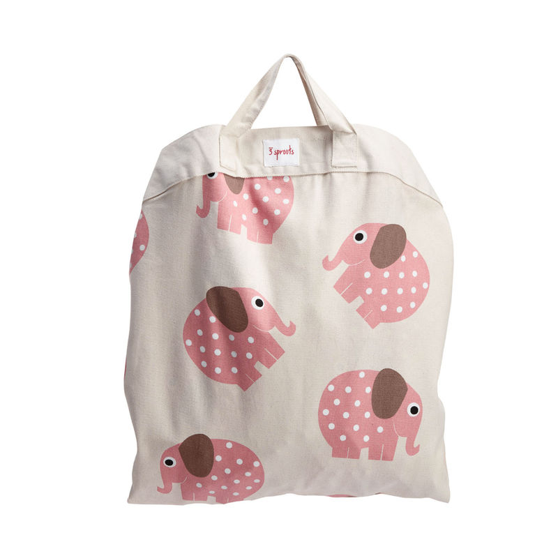 3 Sprouts Play Mat Bag- Pink Elephant