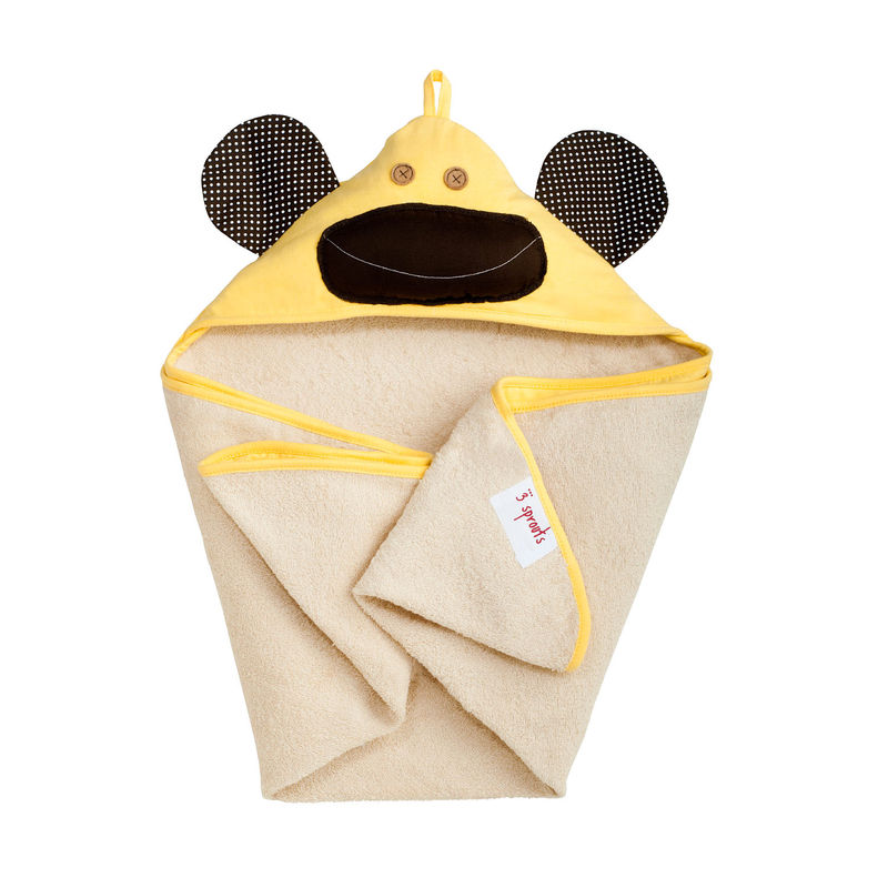 3 Prouts Hooded Towel-Yellow Monkey