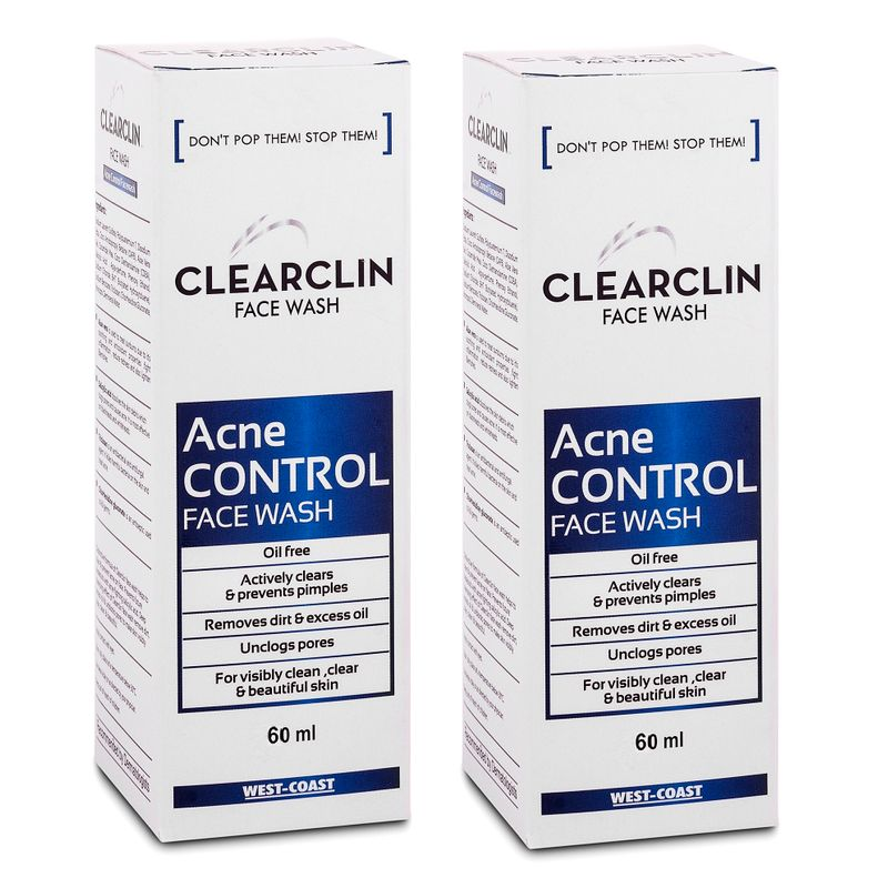 West Coast Clearclin Acne Control Face Wash (Pack Of 2)