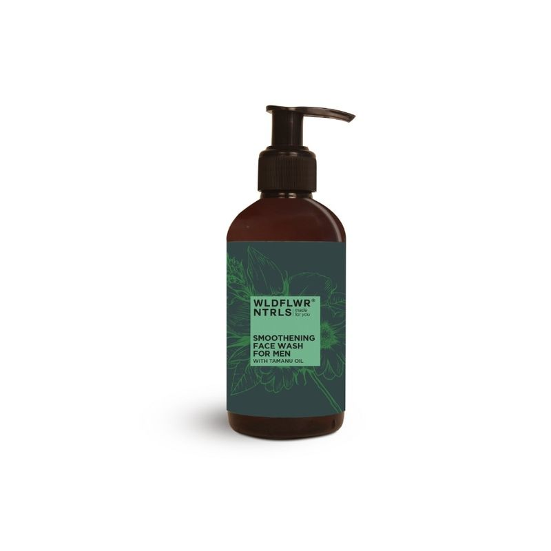 Wildflower Naturals Smoothening For Men With Tamanu Oil Face Wash
