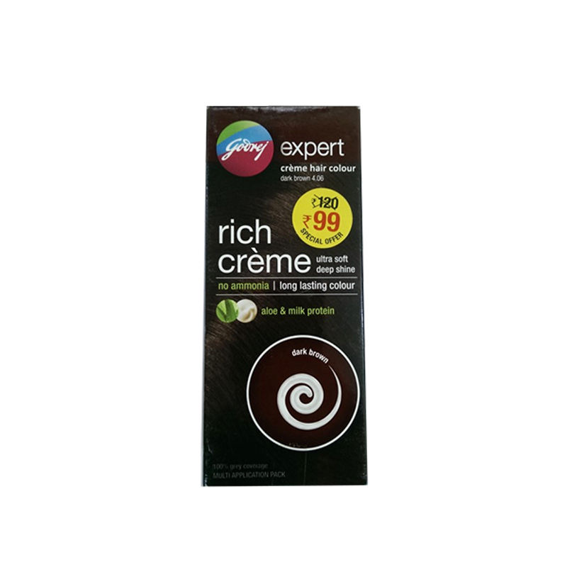 Godrej Expert Rich Creme Hair Colour Natural Black Multi Application Pack (Rs. 21 Off)