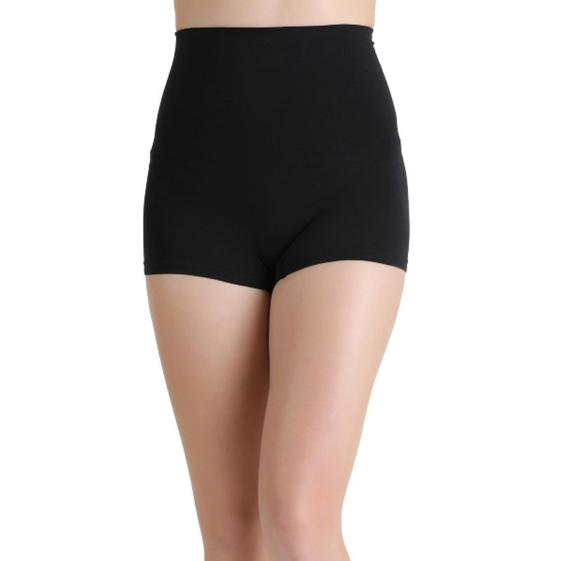 c9b5575e97 Zivame Everyday Shaping Cotton Midwaist Seamless Boyshort Panty - Black  (2XL)