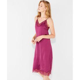d99d8e71d Women secret Satin And Lace Midi Nightgown - Purple