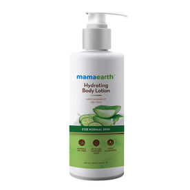 Mamaearth Hydrating Natural Body Lotion With Cucumber & Aloe.