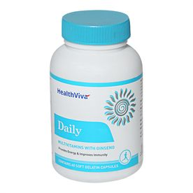 HealthViva Daily Multivitamin With Ginseng - Unflavoured