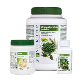 Amway Nutrilite Protein Powder (1Kg) Fiber & Daily-120 (Combo Of 3)