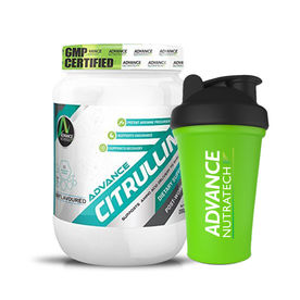 Advance Nutratech Citrulline Unflavoured Powder With Free Shaker