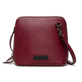610c62075d DailyObjects Burgundy Faux Leather - Trapeze Crossbody Bag