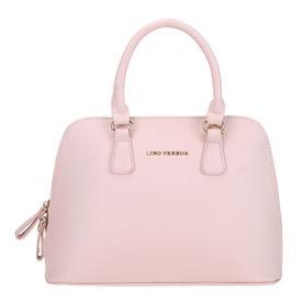 1c3fbd9398 Lino Perros Pink Faux Leather Handbag