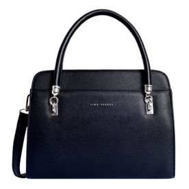 8dd9e438c8f8 Lino Perros Black Faux Leather Handbag