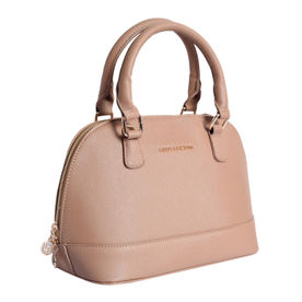 6be28ce4ccc2 Lino Perros Beige Faux Leather Handbag