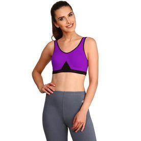 c9ec66993e695 Jockey Purple Glory   Black Slip On Active Bra